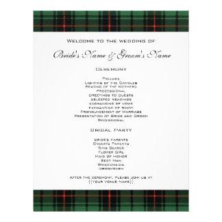 Vintage Hochzeit, modernes Muster TartanDavidson Flyer