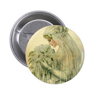 Vintage Hochzeit, viktorianische Runder Button 5,1 Cm