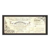 Vintage Hochzeitskarten mit elegantem Schnörkel Ankündigungskarte