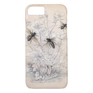 Vintage Honig-Bienen-Kunst iPhone 7 Hülle