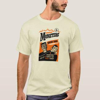 Vintage Horror-Monster-Zupacken-Taschen-Anzeige T-Shirt