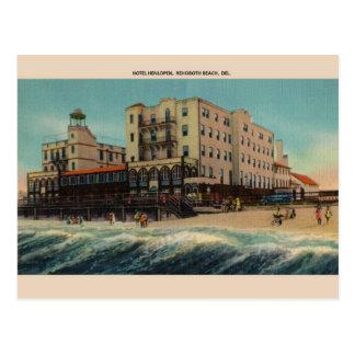 Vintage Hotel Henlopen Rehoboth Strand-Postkarte Postkarte
