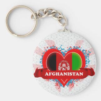 Vintage i-Liebe Afghanistan Schlüsselanhänger