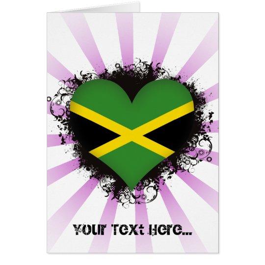 Vintage i-Liebe Jamaika Grußkarte