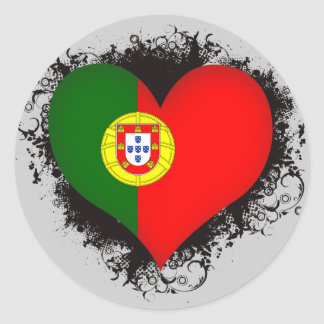 Vintage i-Liebe Portugal Runder Aufkleber
