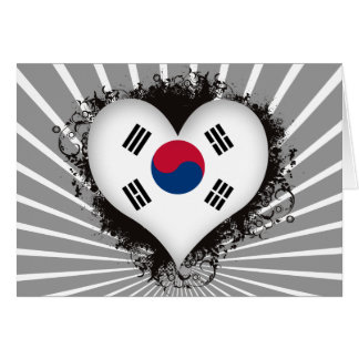 Vintage i-Liebe Südkorea Karte
