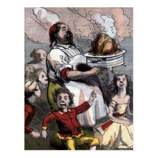 """Vintage Illustration """"der Weihnachtstürkei"""" Postkarte"""