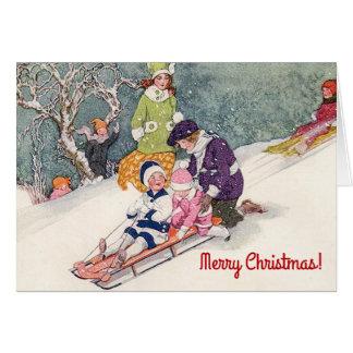Vintage Illustrations-Weihnachtskarte Grußkarte