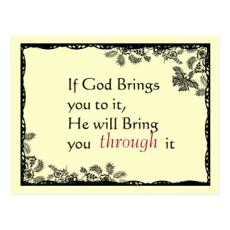 Vintage inspirierte Glauben-Postkarte Postkarte