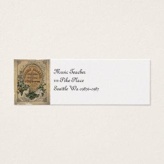Vintage irische Blatt-Musik Mini Visitenkarte