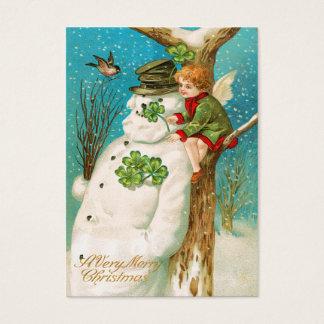 Vintage irische Snowman-Namen-Umbauten Visitenkarte
