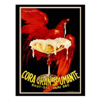Vintage Italiener Spumante Anzeige Postkarte