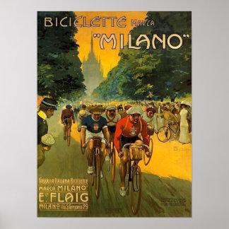 Vintage italienische Fahrrad-Anzeige Poster