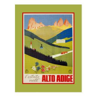 Vintage italienische Reise der Alpen (Südtirol) Postkarte