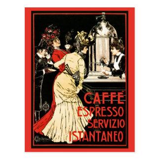 Vintage italienische viktorianische Kaffee Postkarte