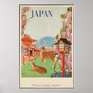 Vintage Japan-Stadt-Reise-klassische Poster