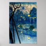 Vintage japanische Abend Woodblock Kunst Ukiyo-E Poster
