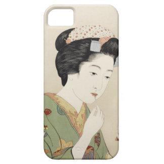 Vintage japanische Geisha-Mädchen-Kunst Barely There iPhone 5 Hülle