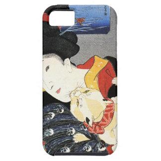 Vintage japanische Geisha-Mädchen-Kunst iPhone 5 Etui