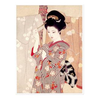 Vintage japanische Kunst-Postkarte Postkarten