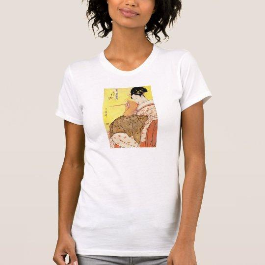 Vintage japanische Malerei der Wiedergabe T-Shirt