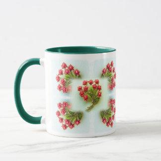 Vintage Juwel-BlumenTasse Tasse