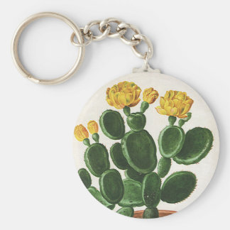 Vintage Kaktus-Blumen, saftige Kaktus-Pflanzen Schlüsselanhänger