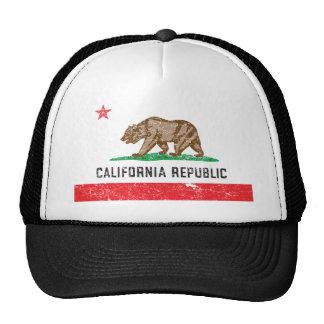 Vintage Kalifornien-Flagge Trucker Caps