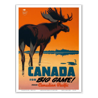 Vintage Kanada-Reise Retro Postkarte