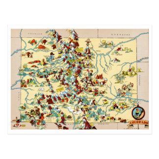 Vintage Karte Colorados