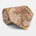 Vintage Karte der Welt (1782) - Stylized Krawatte