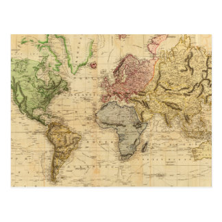 Vintage Karte der Welt (1831)