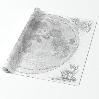 Vintage Karte des Mondes (1647) Geschenkpapier