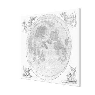 Vintage Karte des Mondes (1647) Leinwanddruck