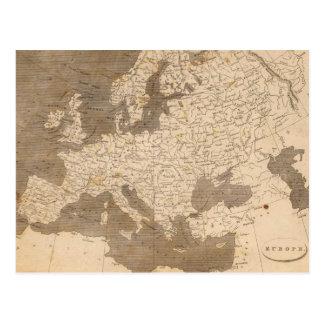 Vintage Karte von Europa (1804) Postkarten