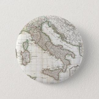 Vintage Karte von Italien (1770) Runder Button 5,7 Cm