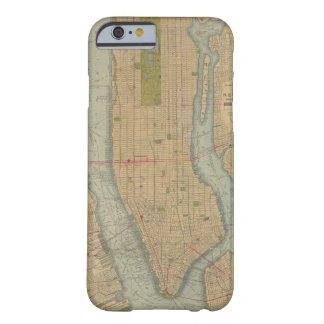 Vintage Karte von New York City Manhattan Barely There iPhone 6 Hülle