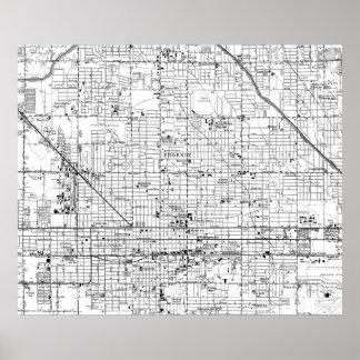 Vintage Karte von Phoenix Arizona (1952) 2 Poster