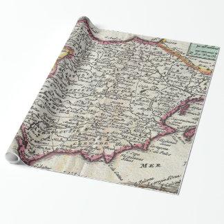Vintage Karte von Spanien und von Portugal (1747) Geschenkpapier