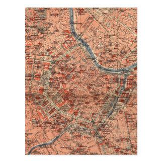 Vintage Karte von Wien Österreich (1920)