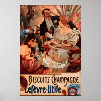 Vintage Keks-Anzeige Plakat-Alphonse Mucha Poster
