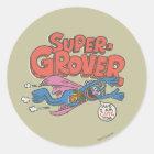 Vintage Kinder 1 Grover Runder Aufkleber