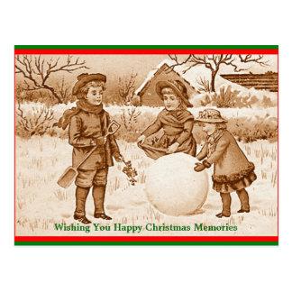 Vintage Kinder, die Postkarte