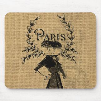 Vintage klassische Paris-Dame Mauspad