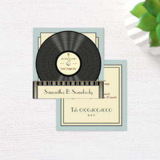Vintage klassische Vinylaufzeichnung Quadratische Visitenkarte