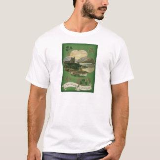 Vintage Kleeblatt-Schloss-St Patrick Tageskarte T-Shirt