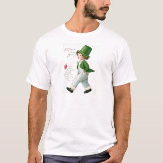 Vintage Kobold-Jungen-St Patrick Tageskarte T-Shirt