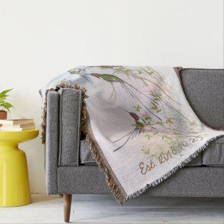 Vintage Kolibri-kundenspezifisches Hochzeits-mit Decke