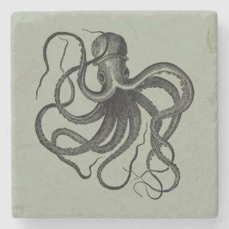 Vintage Kraken-Illustration Steinuntersetzer