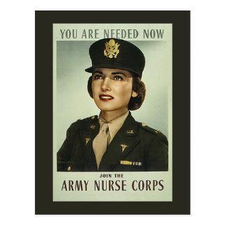 Vintage Krankenschwester-Korps-Postkarte Postkarte